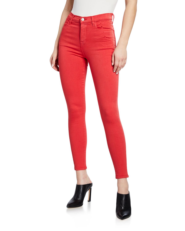 J Brand Jeans ALANA HIGH-RISE CROPPED SKINNY JEANS