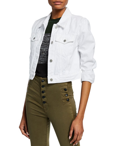 Faye Cropped Denim Jacket