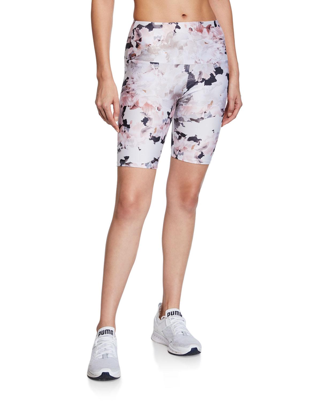 Onzie Shorts FLORAL-PRINT BIKE SHORTS