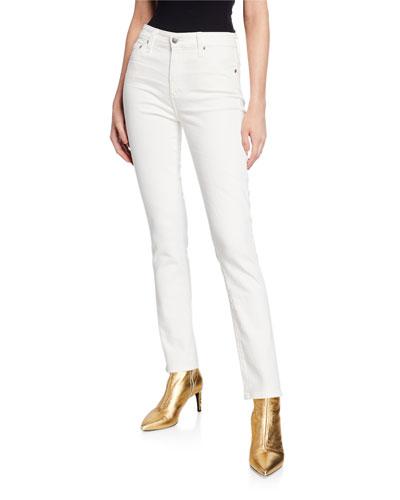 The Mari High-Rise Straight-Leg Jeans