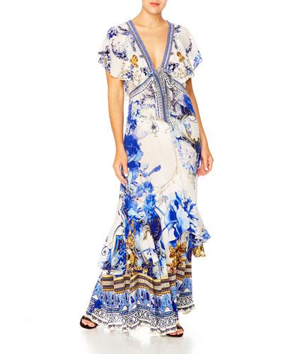 Tie-Front Maxi Dress w/ Split