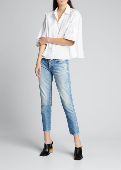 Magee Tapered Distressed Ankle Jeans
