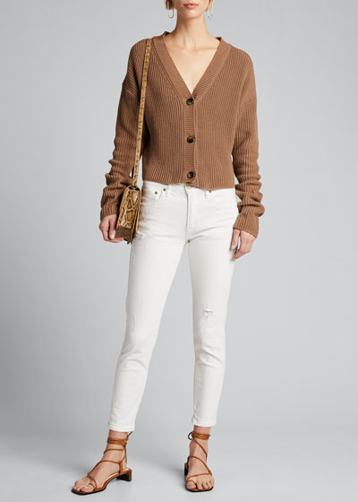Velma Cropped Mid-Rise Skinny Jeans