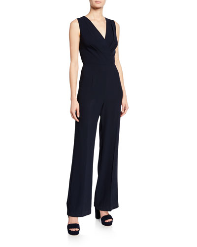 Adaline V-Neck Sleeveless Jumpsuit