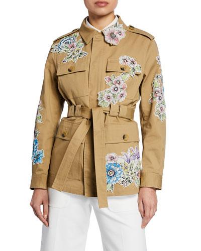 Floral Patchwork Utility Jacket
