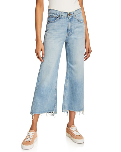 The Rider Wide-Leg Cropped Jeans