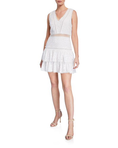 Tonie Embroidered Eyelet Dress