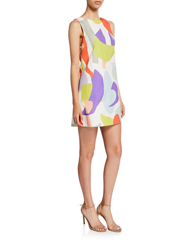 Clyde Geo-Print Shift Dress