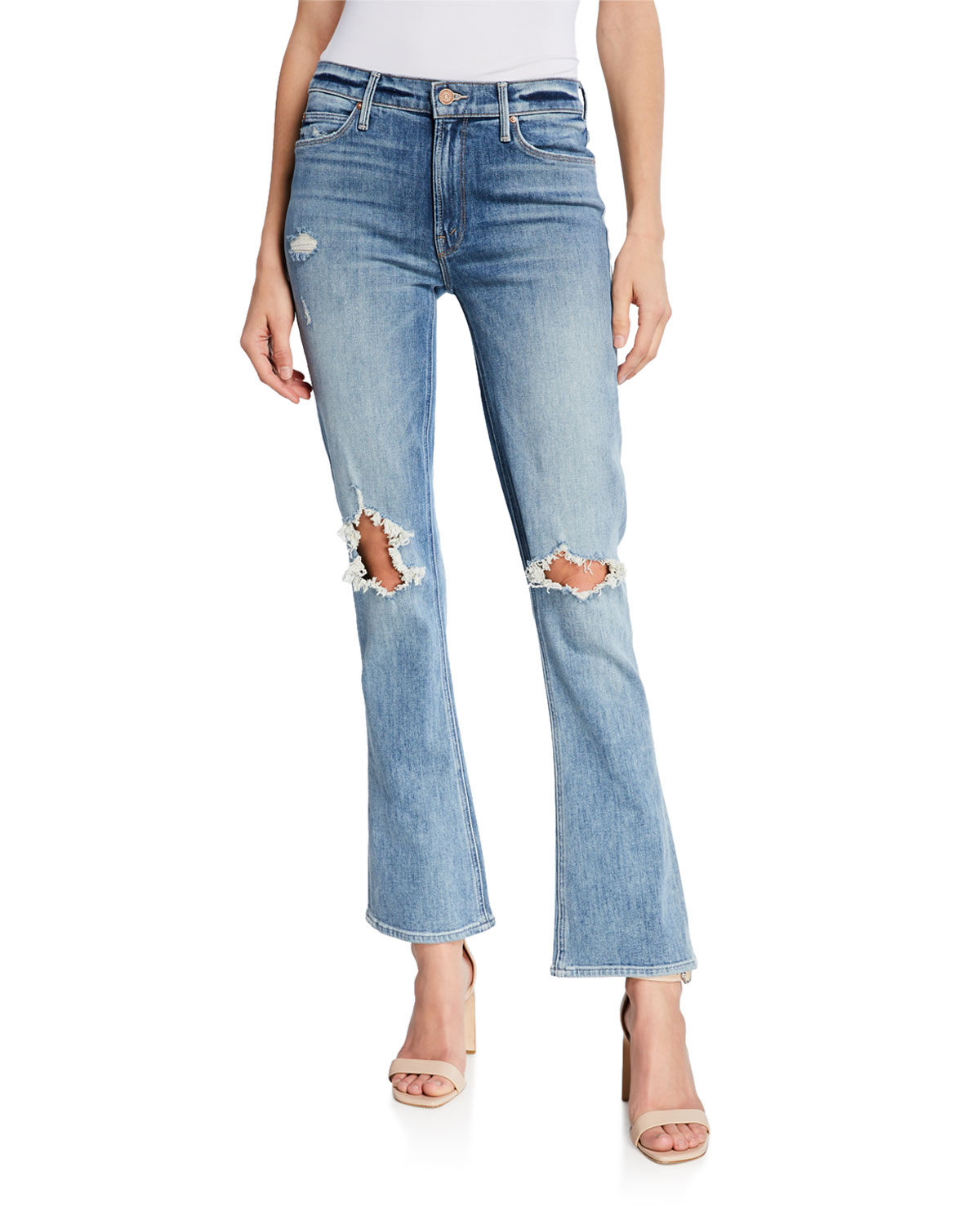 Mother Jeans THE RUNAWAY WEEKENDER BOOT-CUT JEANS