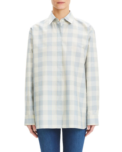 Fuji Check Menswear Oversized Shirt
