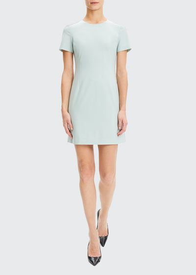 Jatinn Short-Sleeve Good Wool Suiting Dress