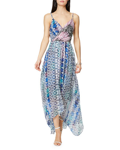 Fatima Printed Sleeveless Maxi Dress