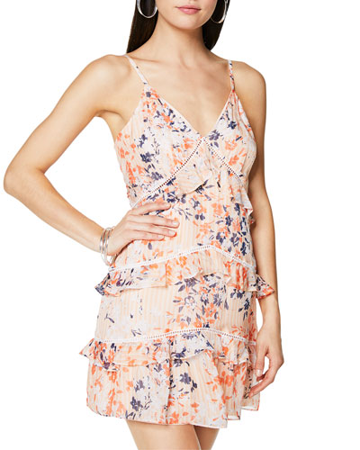 Emmie Printed Sleeveless Ruffle Dress