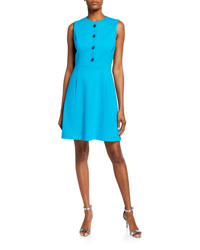 Louisa Sleeveless Fit-&-Flare Dress