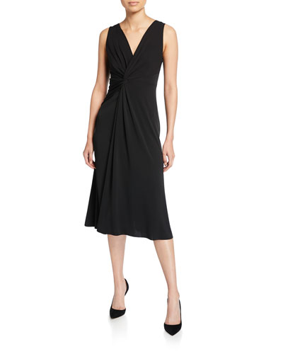 Camile Sleeveless Twist-Front Dress