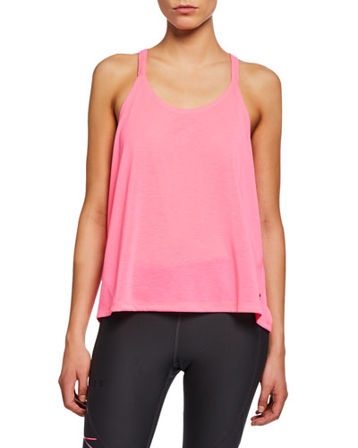 Whisperlight Fold-Over Racerback Tank, Pink