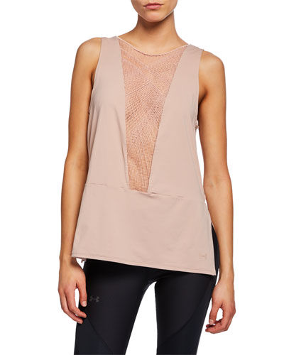x Misty Copeland Signature Embroidered Performance Tank, Pink