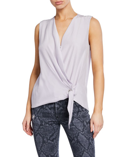 Felix Sleeveless Tie-Front Top