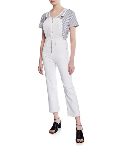 Avalon Cropped Coverall Denim Jumpsuit