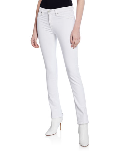 Nico Mid-Rise Cigarette Jeans with Grommets