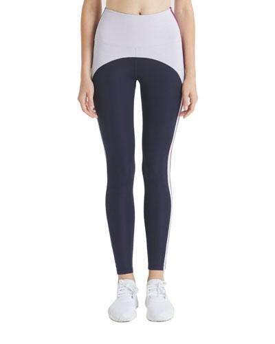 Damon Colorblock Side-Stripe Leggings