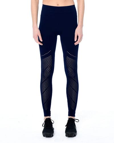 Laurel Warp Mesh Performance Leggings