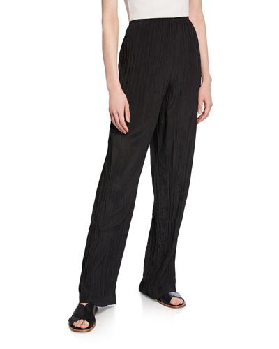 Crinkle Pull-On Pants