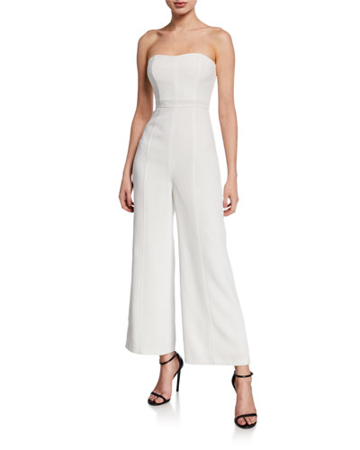 Paola Strapless Flared Jumpsuit