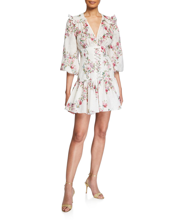 Zimmermann Dresses HONOUR CORSET MINI DRESS