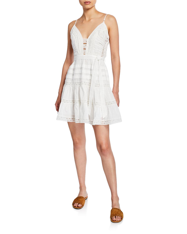 Zimmermann Dresses HONOUR SCALLOPED MINI DRESS