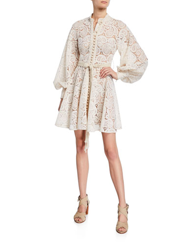 Amari Paisley Lace Mini Dress