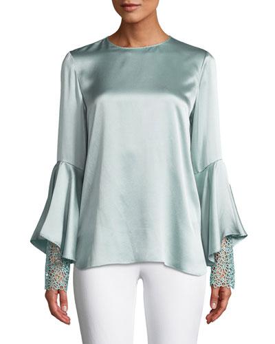 338a269f3ec577 Kaia Flutter-Sleeve Silk Blouse Quick Look. Elie Tahari