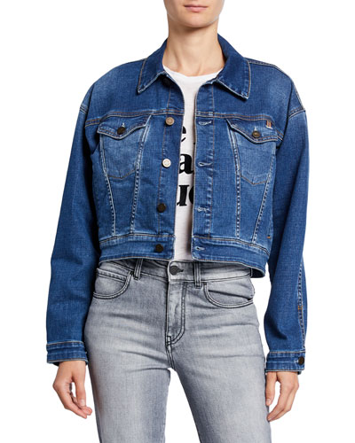 Janis Cropped Denim Jacket