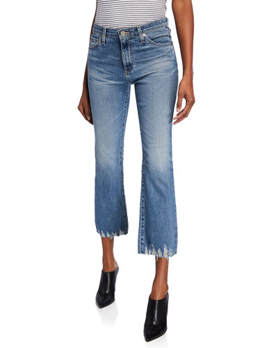 The Jodi High-Rise Flare Crop Jeans