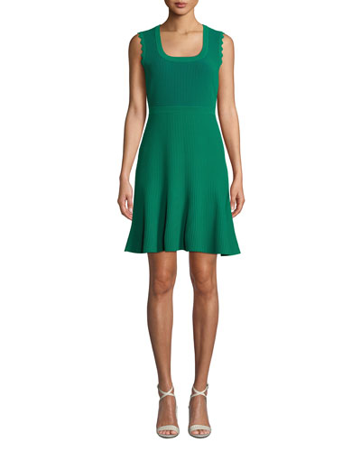 Adi Ribbed Sleeveless Short Dress