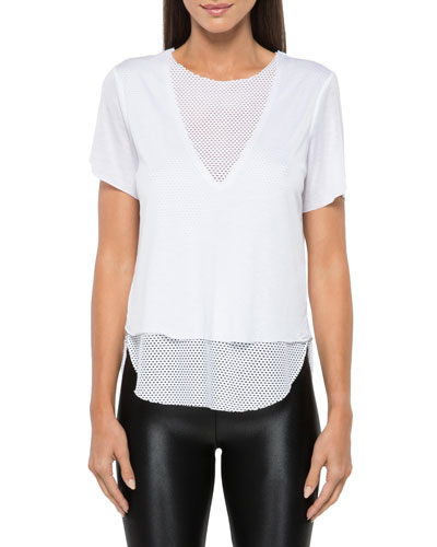 Double Layer Tee with Mesh