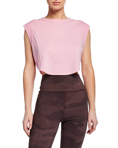 Echo Cropped Sleeveless Tee