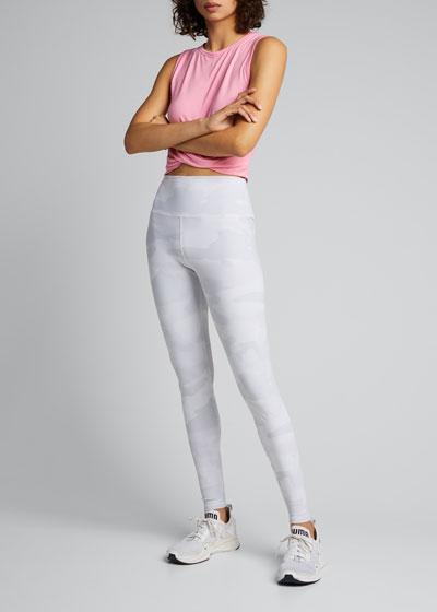 Vapor Camo-Print High-Waist Performance Leggings