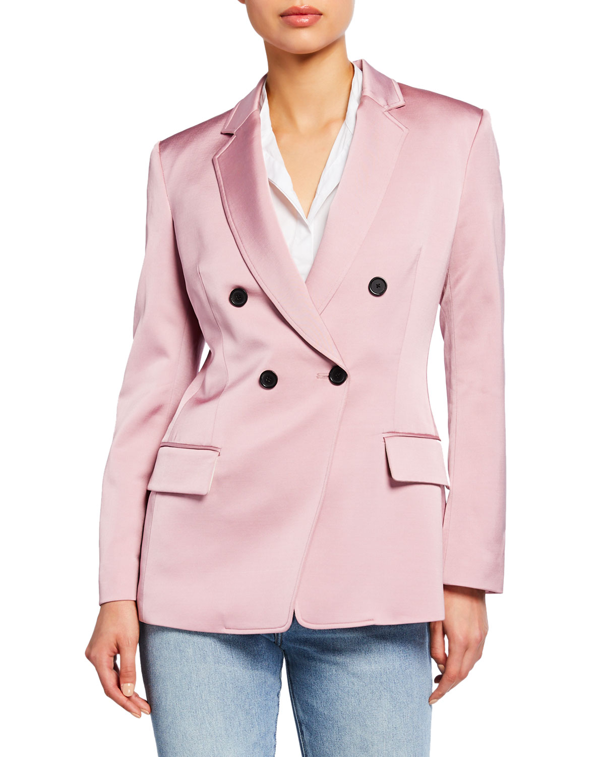 A.l.c Jackets SEDGEWICK DOUBLE-BREASTED SATIN JACKET