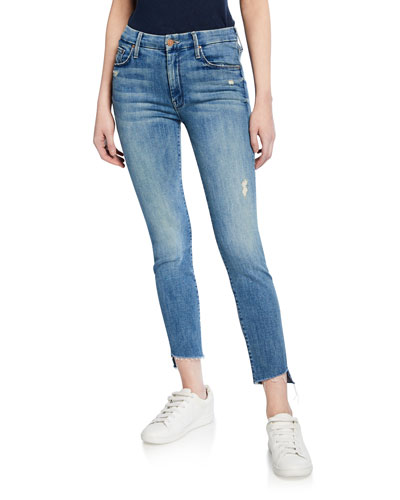 The Looker Step Fray Skinny Jeans