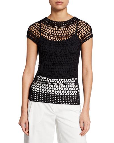 8f2faa0e57652 Tissage Crochet T-Shirt