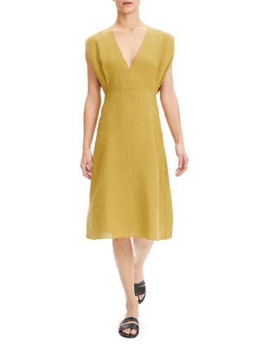 Deep V-Neck Sleeveless Easy Dress