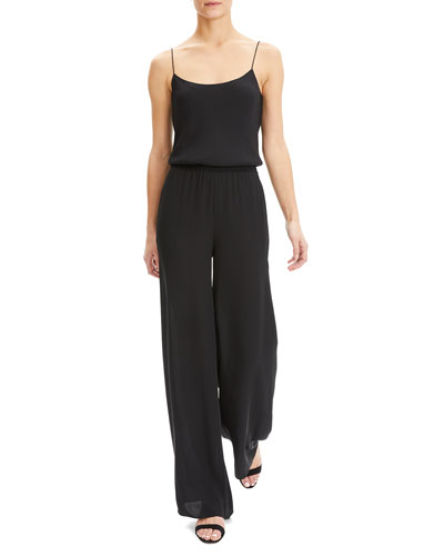 Scoop-Neck Spaghetti-Strap Jumpsuit