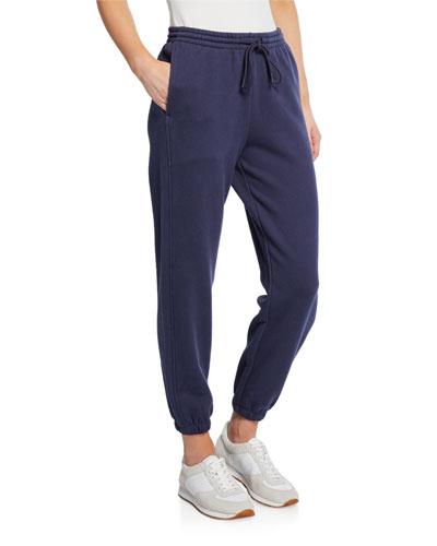 Drawstring Cotton Jogger Pants with Pockets