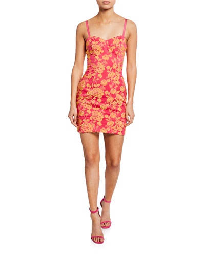 Erica Floral-Print Cutout Mini Dress