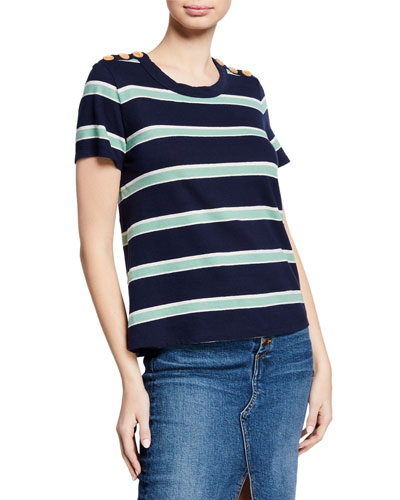 Dominica Striped U-Neck Tee