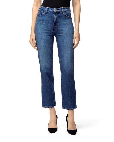 Jules High-Rise Straight-Leg Jeans