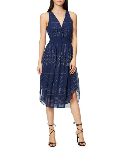 Mason Embellished V-Neck Midi Dress