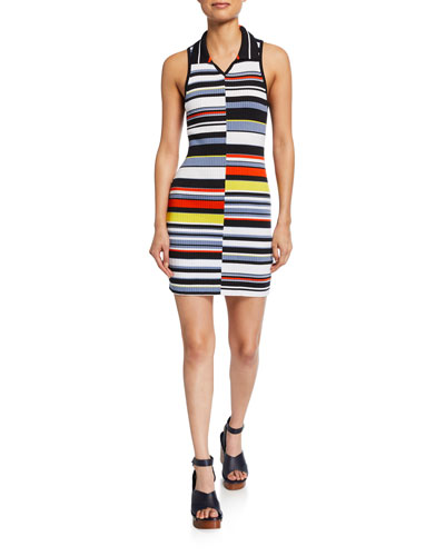 Mason Striped Sleeveless Mini Dress