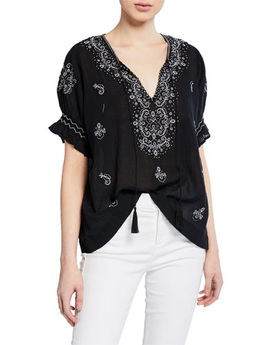 The Mercantile Embroidered Top